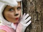 Fofa! Jesuela Moro encarna a coelhinha da Páscoa e encanta equipe de 'Guerra'