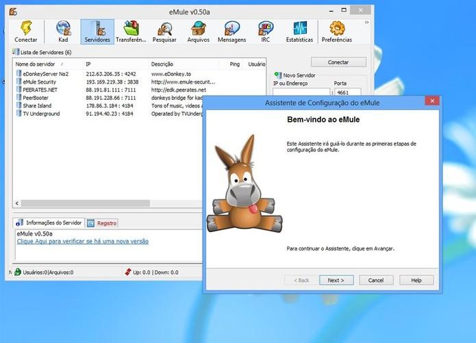 Emule é um tipo de software que utiliza download de arquivos por envio P2P (Foto: Reprodução/TechTudo)