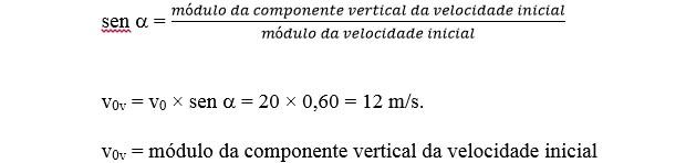 Cálculo de velocidade do lançamento (Foto: Reprodução)
