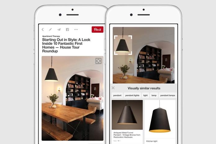Usuários poderão fazer buscas por partes de imagens no Pinterest (Foto: Reprodução/Pinterest)
