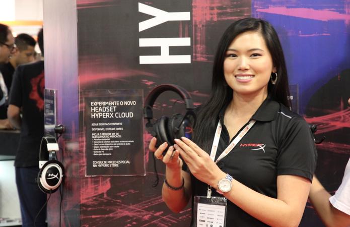 Annie Leung, diretora global de marketing da HyperX (Foto: Matheus Vasconcellos / TechTudo)