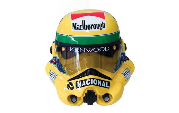 Capacete Senna Stormtrooper (Foto: Reprodução/Facebook)