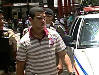 Jonas David Rosa, soldado demitido da PM. (Foto: Reprodução/TV Globo)