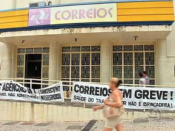 Agência dos Correios em Cuiabá (Foto: Reprodução/TVCA)