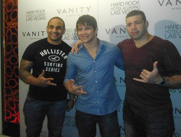 Rafael Feijão, Erick Silva e Pedro Rizzo UFC (Foto: Adriano Caldas / Globoesporte.com)