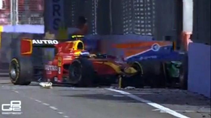 Acidente Fabio Leimer Alexander Rossi GP2