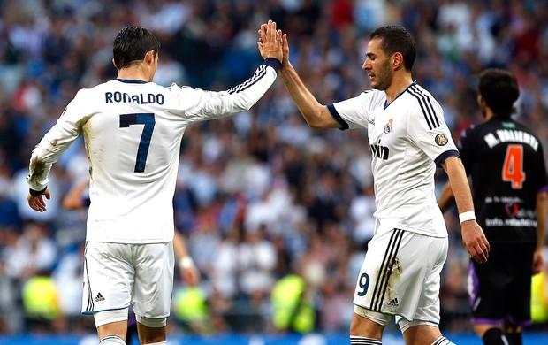 Benzema jogo Real Madrid Valladolid (Foto: Reuters)