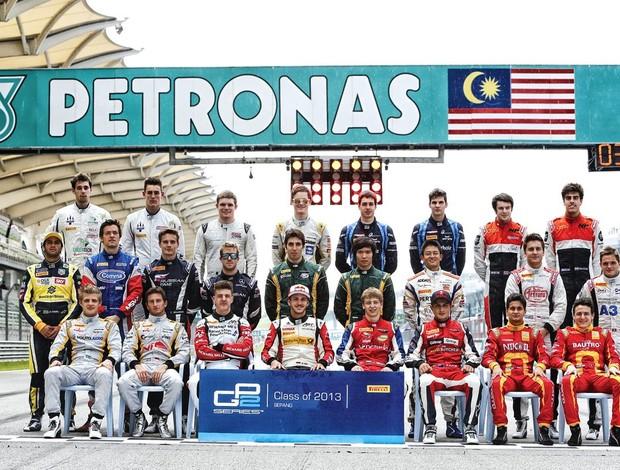 Turma de 2013 da GP2 (Foto: Divulgação GP2)