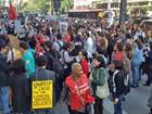 Professores das federais em greve protestam em várias cidades