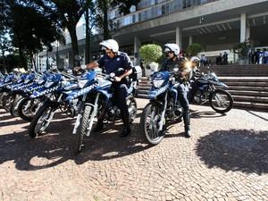 Novas motocicletas da Guarda de Campinas, SP (Foto: Fernanda Sunega / Prefeitura de Campinas)