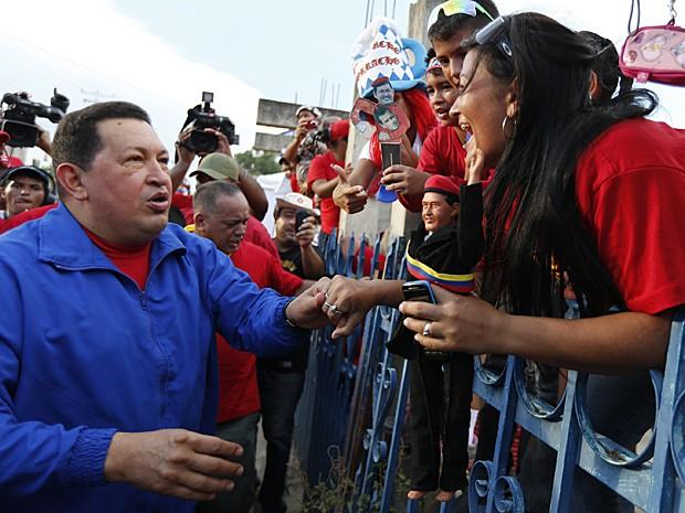 Chávez comício (Foto: Jorge Silva/Reuters)