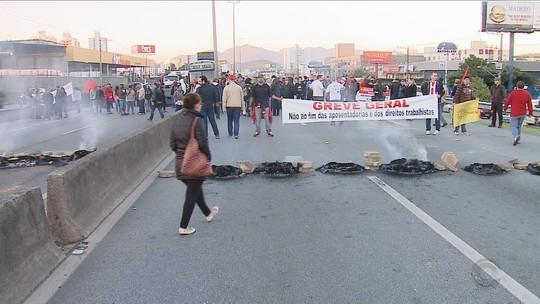 SC tem paralisações e protestos nesta sexta-feira (28)