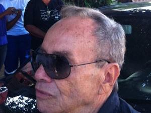 Stênio Garcia no velório de Cleyde Yáconis (Foto: Flávio Seixlack/G1)