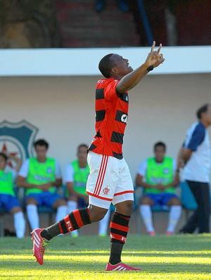 Samir comemoração Flamengo contra Friburguense (Foto: Uanderson Fernandes / Agência Estado)