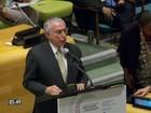 Temer abre nesta terça debate da Assembleia Geral da ONU