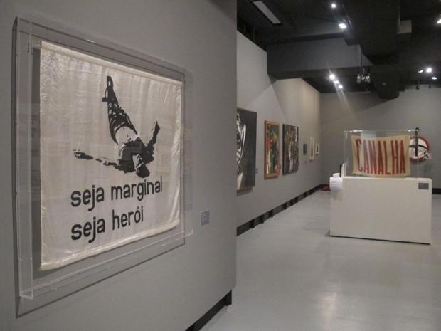 Algumas das obras expostas na exposição (Foto: Paulo Toledo Piza/G1)