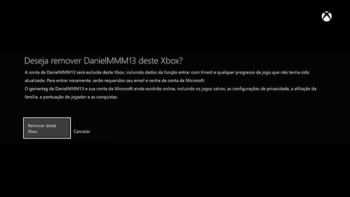 Xbox One: como deletar uma conta do console (Foto: Reprodução/Murilo Molina)
