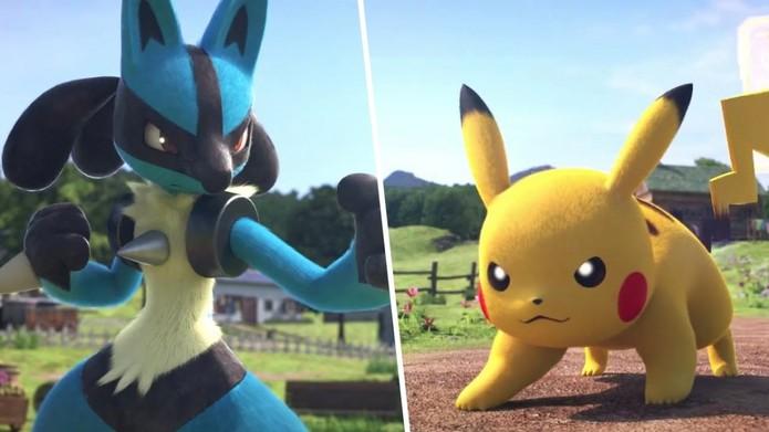 Em Pokémon as criaturas também batalham ao comando de seus treinadores (Foto: Divulgação/Nintendo)