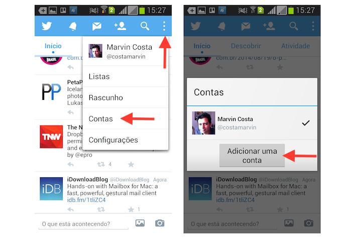 Sincronizando uma nova conta de usuário no Twitter para Android (Foto: Reprodução/Marvin Costa)