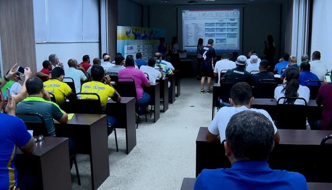 Congresso técnico da Taça EPTV de Futsal aconteceu nesta terça-feira em Varginha (Foto: Reprodução EPTV)