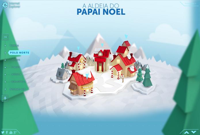 Microsoft permite rastrear Papai Noel (Foto: Reprodução/Microsoft)
