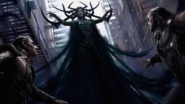 Hela, Thor e Loki em 'Thor 3: Ragnarok' (Foto: Divulgação)