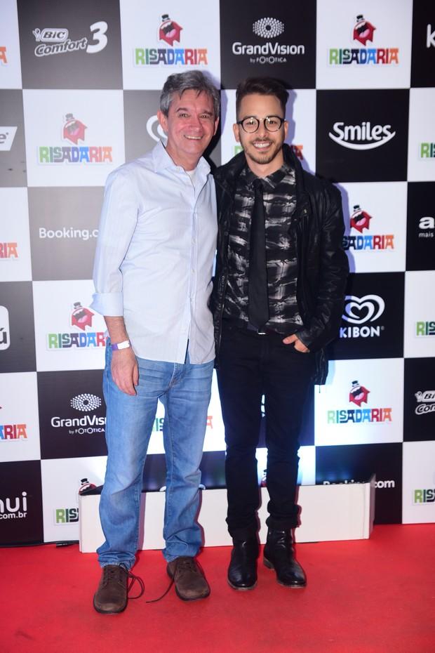 Serginho Groisman e Junior Lima (Foto: Leo Franco / AgNews)