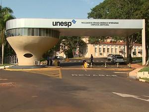 Diretoria informou que apenas 20 servidores estão parados na Unesp em Jaboticabal (Foto: Reprodução/EPTV)
