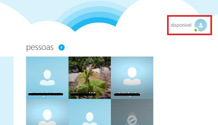 Tocando no ícone do perfil do usuário Skype (Foto: Reprodução/Edivaldo Brito)
