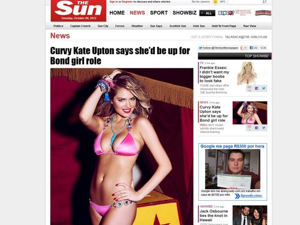 A modelo Kate Upton disse que adoraria ser uma Bond Girl (Foto: Reprodução)