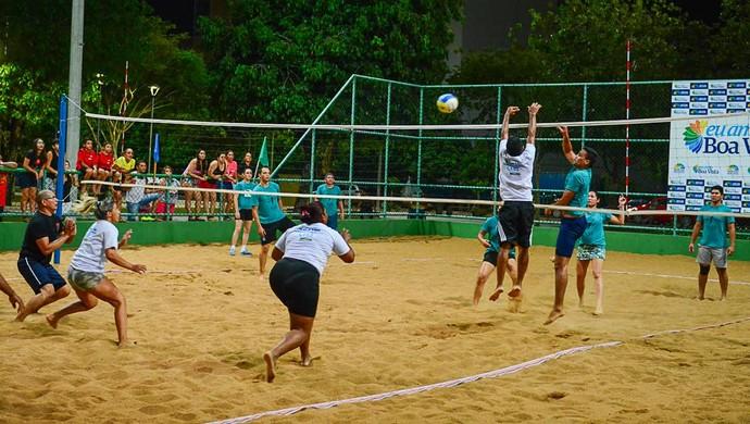 Vôlei de praia leva os servidores para disputas na quadra de areia (Foto: Igorh Martins)