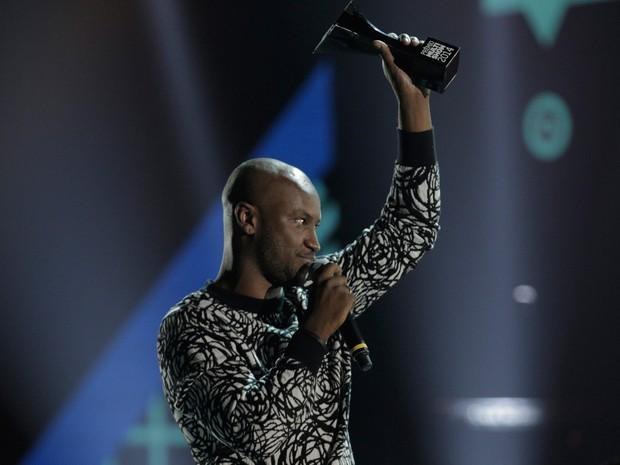 Thiaguinho foi um dos grandes vencedores da noite  (Foto:  Thiago Facina)