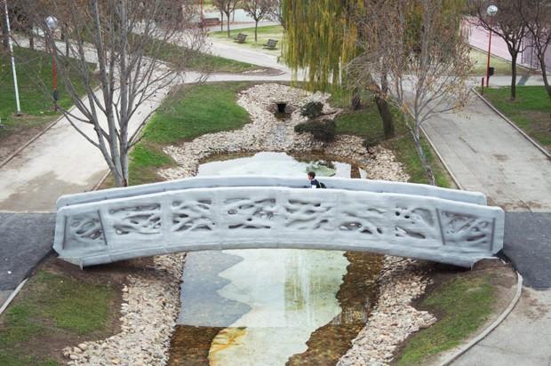 Inaugurada a primeira ponte do mundo construída com impressão 3D  (Foto: Divulgação)