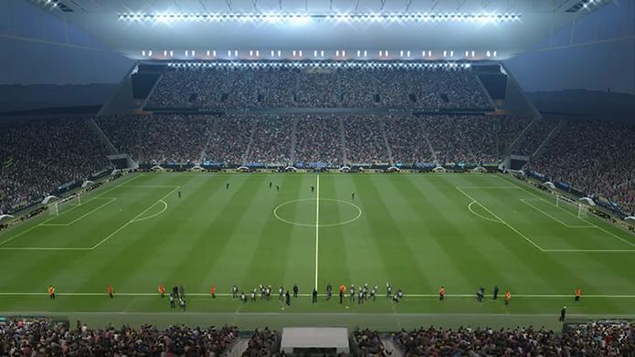 Arena Itaquera é um dos estádios brasileiros do game (Foto: Reprodução/Murilo Molina)