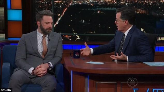 Ben Affleck e Stephen Colbert (Foto: Divulgação)