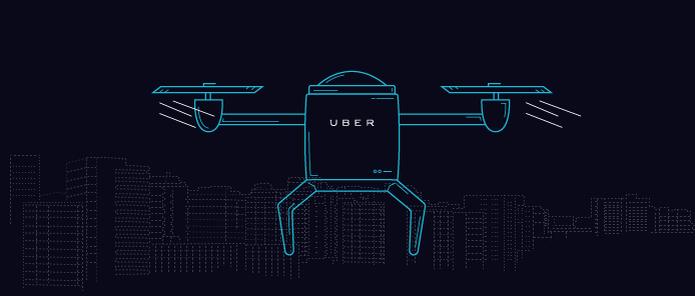 Drones só servem para filmar as coisas de cima, mas no dia da mentira virou meio de transporte para o Uber (Foto: Reprodução/Uber)