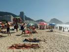 Sensação térmica passa dos 30ºC e Rio tem praias cheias nesta quinta