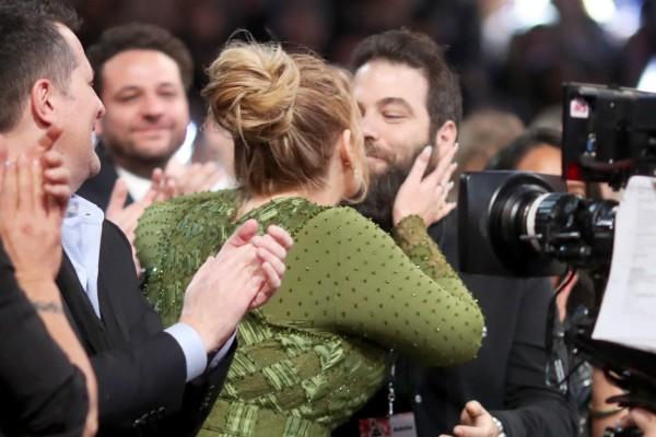 A cantora Adele e o marido, Simon Konecki (Foto: Getty Images)