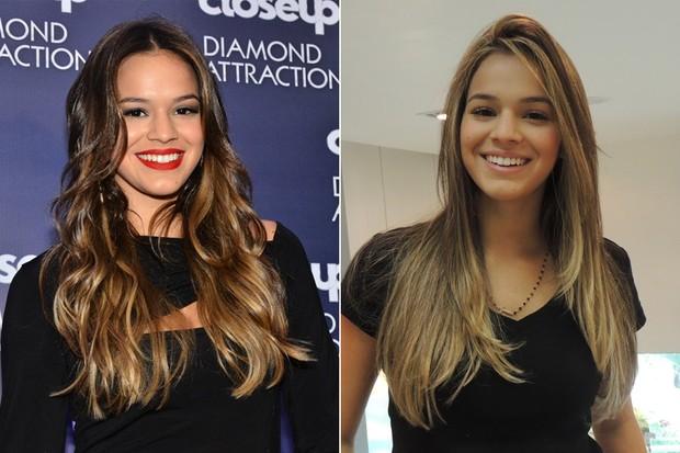 Bruna Marquezine - antes e depois (Foto: Caio Duran / AgNews | Divulgação)