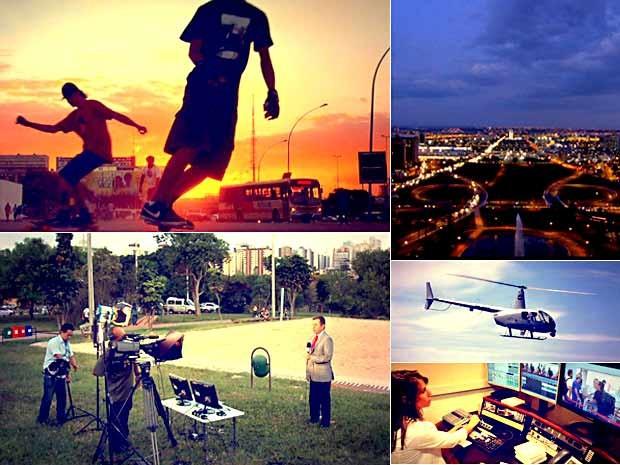 Imagens da Caravana do DFTV 2ª Edição (Foto: Reprodução/TV Globo)