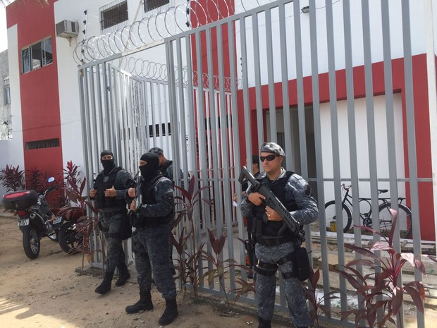 CDPs e cadeias da Grande Natal tiveram reforço após transferência de presos em Alcaçuz (Foto: Divulgação / GOE)