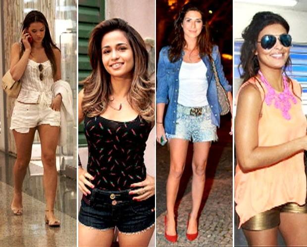 Bruna Marquezine, Nanda Costa, Fê Paes Leme e Juliana Paes já desfilam seus modelitos (Foto: Mais Você / TV Globo)