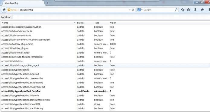 Você pode alterar configurações internas do Firefox que não são exibidas na interface do usuário (Foto: Reprodução/Mozilla)