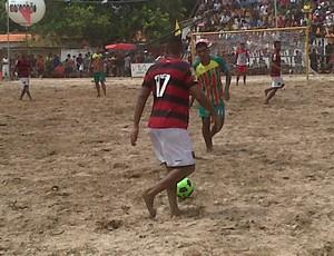Sampaio e Flamengo fazem partida de beach soccer em Timon (Foto: Divulgação)