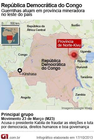 MAPA Congo (Foto: Editoria de Arte / G1)