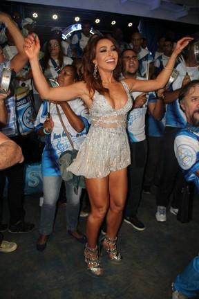 Sabrina Sato na quadra da Vila Isabel, na Zona Norte do Rio (Foto: Marcello Sá Barretto/ Ag. News)