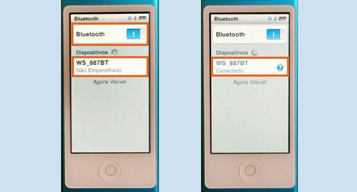 Faça a conexão do seu iPod com a caixa de som Bluetooth (Foto: Reprodução/Barbara Mannara)