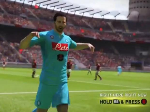 'Fifa 15' tem comemoração 'eu estou aqui' de Cristiano Ronaldo (Foto: Reprodução/Electronic Arts)