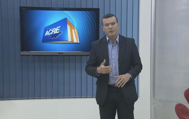 O apresentador do Acre TV, Bruno Cássio, fala sobre o prazo de inscrição do 'Acre TV em Forma' (Foto: Reprodução TV Acre)