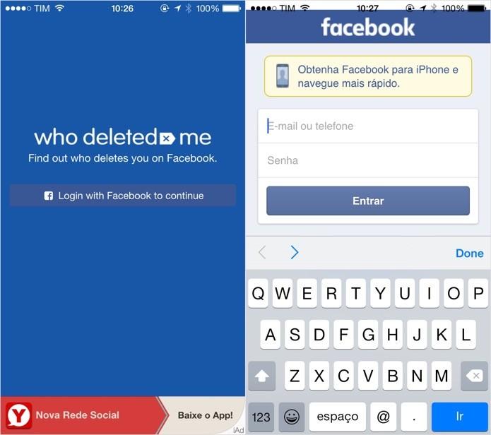 Abra o aplicativo e faça login em sua conta do Facebook (Foto: Reprodução/Helito Bijora)